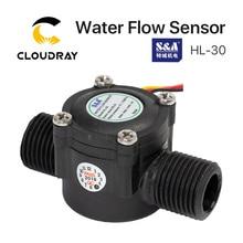 Cloudray Interruptor de flujo de agua, Sensor HL 30 para enfriador S & A para máquina cortadora de grabado láser CO2