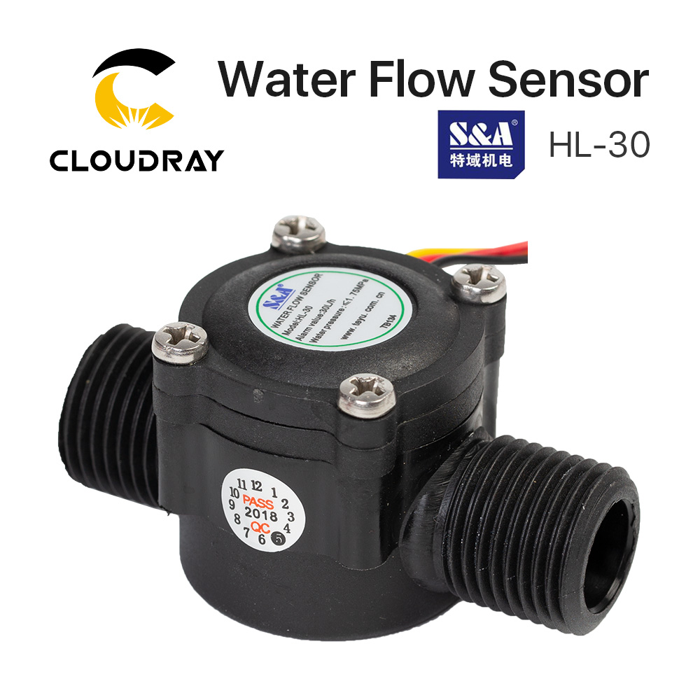 Cloudray Water Flow Switch Sensor HL-30 For S&A Chiller For CO2 Laser Engraving Cutting Machine