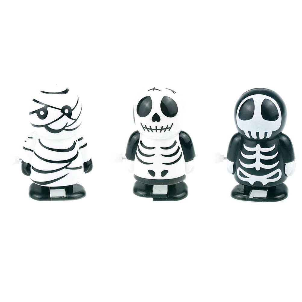 Nieuwe Cartoon Baby Halloween Clockwork Kinderen Klassieke Tin Wind Up Clockwork Speelgoed Springen Vintage Speelgoed Klassieke Speelgoed Voor Jongens Meisjes