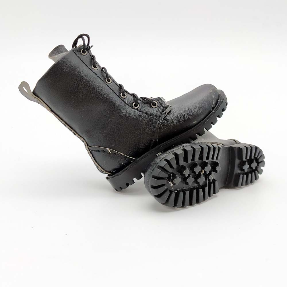 """1//6 Scale Soldier Shoes Leather Army Combat Boots Hand-Made Shoes for 12/"""" Action"""