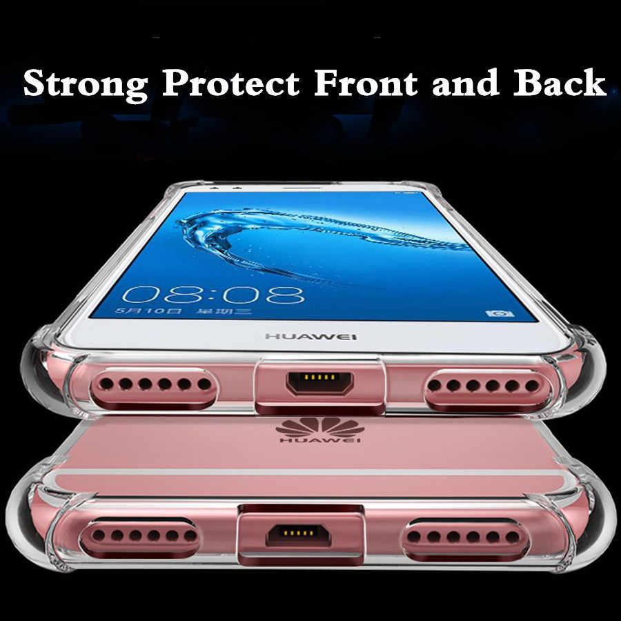 Super armadura caso del TPU para el caso de Huawei Mate 20 Pro P20 P10 P9 P8 Lite 2017 Nova 3E 3 3i 2 la cubierta protectora Honor 10 9 8 7X 8X 6A