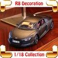 Regalo de Año nuevo R8 1/18 Metallic Escala de la Colección Para Los Amantes de Coches Diecast Modelo de Coche de Aleación de Vehículo de Lujo Juguetes Presente