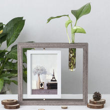 "Nordic Ins Photo Frame Set 7 Inch"" Creative Double-Sided Hydroponic Plant Frame Desktop Decoration Photo Bedroom Home Decoration(China)"