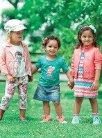 G2 Traje de pantalones 2017 Hot Girls Sistemas de la Ropa de los niños s Chicas Rosa de Encaje de invierno de Dos piezas primero Cumpleaños Muchachas del Boutique de encaje trajes