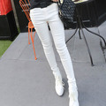 Primavera Verão 2017 nova Mulheres Calças Moda Plissado calças Quentes regulares sólida meados de cintura calças lápis para as mulheres