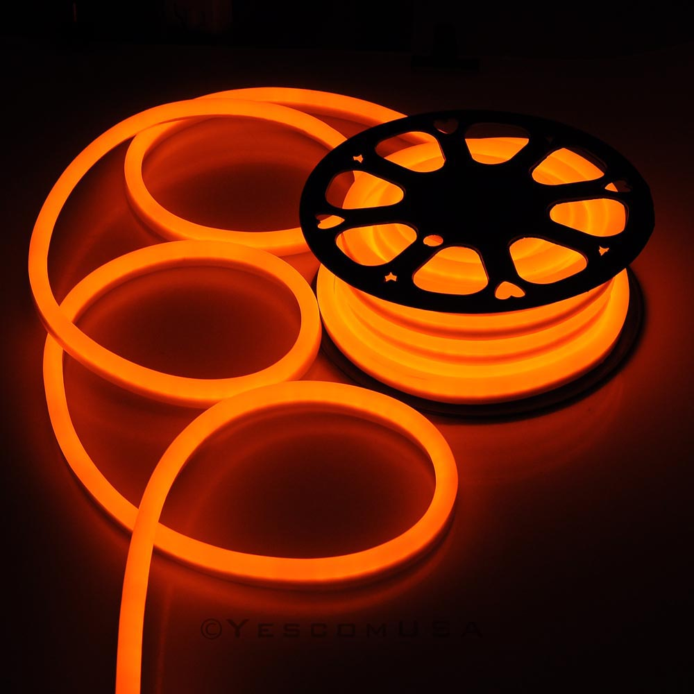 50ft orange led neon rope light holiday valentine party decoration 50ft orange led neon rope light holiday valentine party decoration outdoor flex in novelty lighting from lights lighting on aliexpress alibaba group aloadofball Image collections
