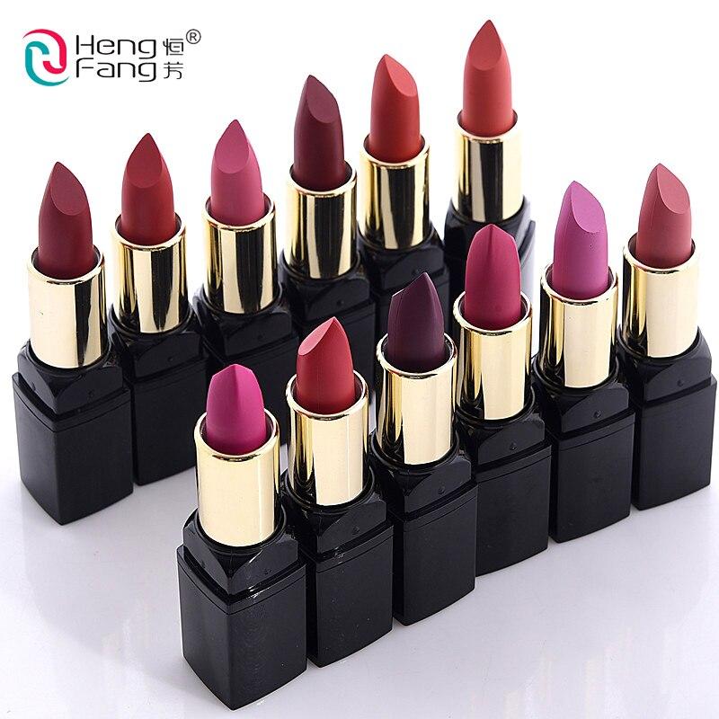 12 teile/satz lip kit matte Samt Lippenstift Langlebige Nahrhaft Lip Sticks Lip Balm Lippen Make-Up Batom Kosmetische HengFang