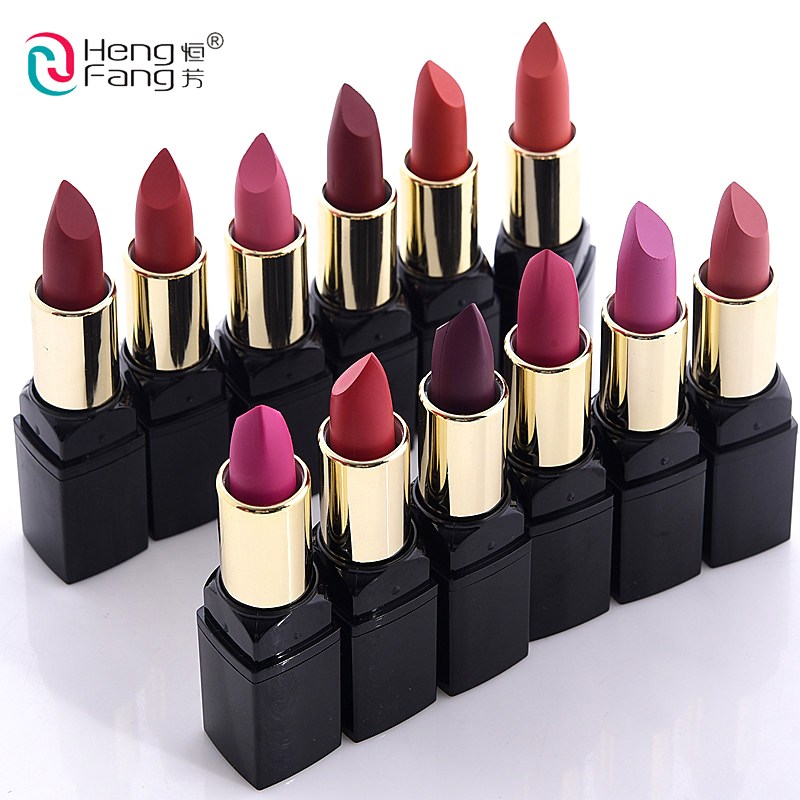 12pcs/Set lip kit matte Velvet Lipstick Long Lasting Nutritious Lip Sticks Lip Balm Lips Makeup Batom Cosmetic HengFang 12pcs set lip kit matte velvet lipstick long lasting nutritious lip sticks lip balm lips makeup batom cosmetic hengfang