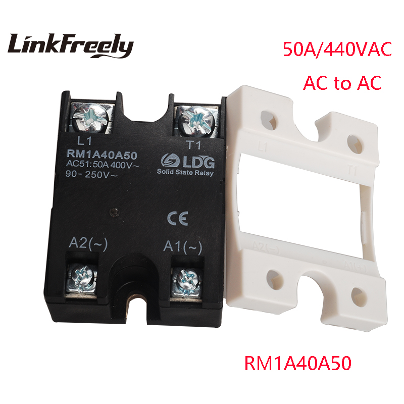 RM1A40A50 AC AC Solid State Relay 50A Soft Starting Relay Switch Board Output:42-440VAC Input: 20-280VAC/22-48V DC SSR Relay кольца silver wings 21set11086gp 113