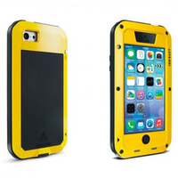 Original LOVE MEI Shock Dust And Water Proof Metal Protective Case For Iphone 5C With Touch