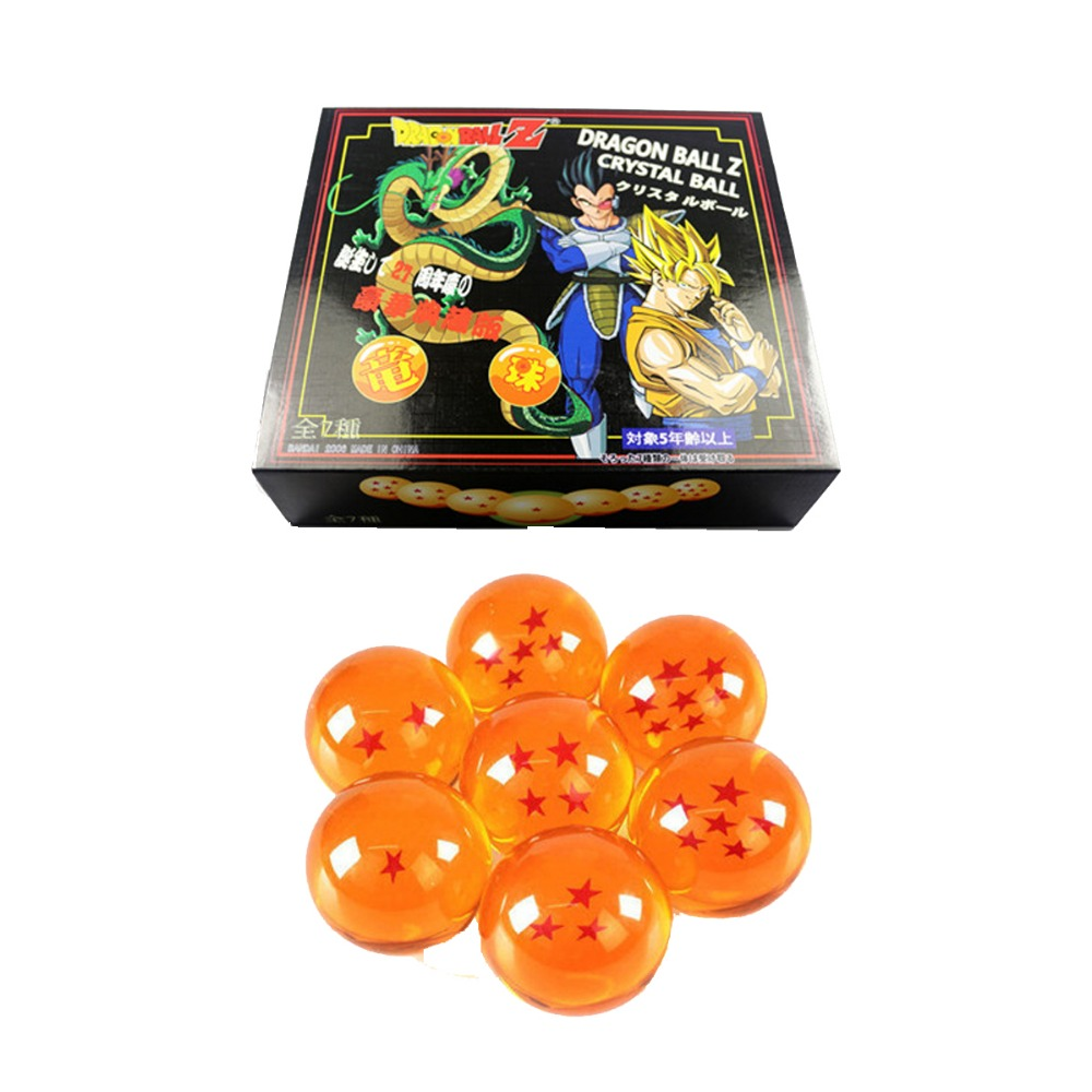 7x JP Anime Dragonball Dragon Ball Z Crystal Ball 5cm/2 New in Box APL011041 Free Shipping brand new 3 5cm dragon ball z new in box 7 stars crystal balls set of 7 pcs complete set for children new year christmas gift