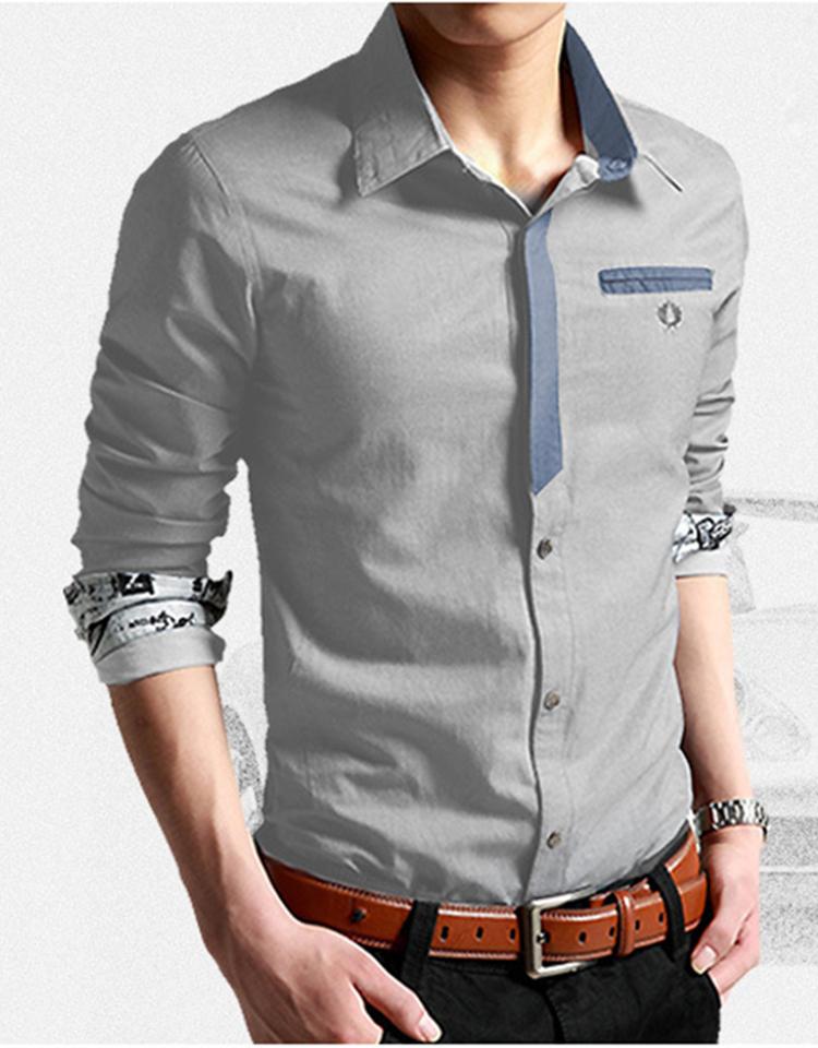 Korean Clothes Men Shirt Long Sleeve Streetwear Beach Summer Shirt Casual Slim Fit High Quality Hawaiian Mens Dress Male Shirts 12
