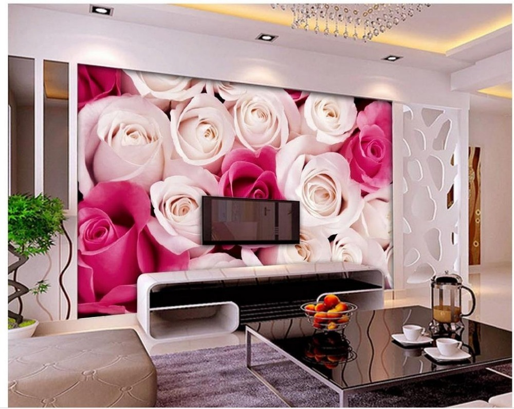 Carta Da Parati Fiori Rosa : 3d carta da parati fiore rosa 3d wallpaper mural non tessuto carta