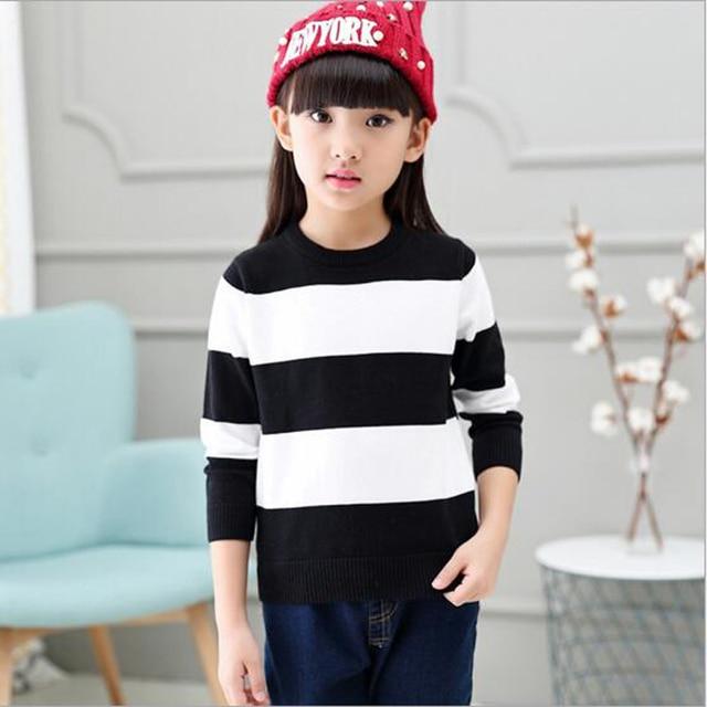 bcc9be24e Girls Pattern Kids Cotton   Wool Striped Sweaters Children s Pattern ...