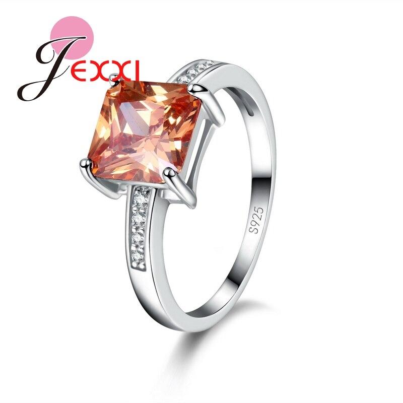 JEXXI font b Luxurious b font Champagne Big Square Cut Crystal font b Jewelry b font