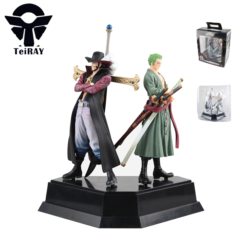 2pcs One Piece Zoro Mihawk Figuarts Japan Anime Pvc action figures toy Figma Figurine Juguetes Kids Birthday toys gift 24cm 9.4 12pcs set children kids toys gift mini figures toys little pet animal cat dog lps action figures