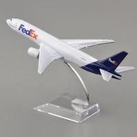 16CM Long Brand New 1 400 Scale Airplane Models Fedex Boeing B777 Diecast Metal Plane Model