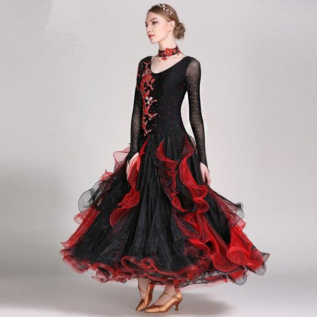 Exquisite Rhinestone Women Standard Ballroom Long Dress,High end ...