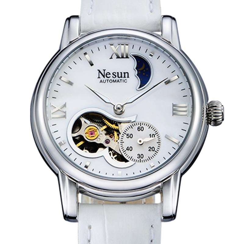 Switzerland New Luxury Brand Nesun Hollow Women Watch Automatic Self-Wind Genuine Leather Clock Waterproof Watches women N9061-5Switzerland New Luxury Brand Nesun Hollow Women Watch Automatic Self-Wind Genuine Leather Clock Waterproof Watches women N9061-5