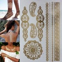 Hot Temporary tattoo Gold tattoo jewelry Henna