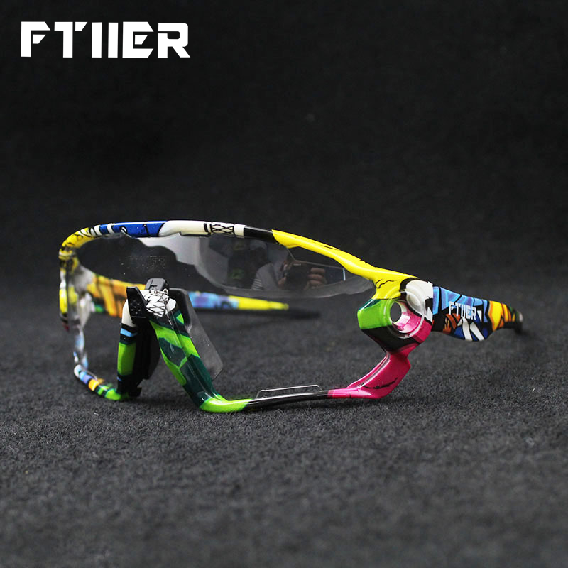 Ftiier Photochromic Cycling Bicycle Bike Glasses Outdoor Sports MTB Riding Hiking Sunglasses Goggles Color Changing EyewearFtiier Photochromic Cycling Bicycle Bike Glasses Outdoor Sports MTB Riding Hiking Sunglasses Goggles Color Changing Eyewear