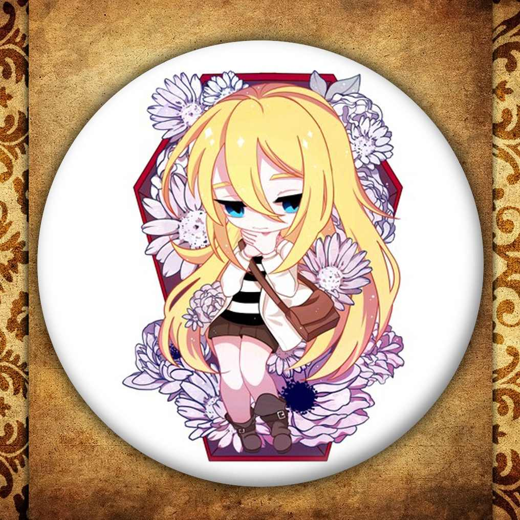 Anime Malaikat Kematian Menampilkan Lencana Jepang Kartun Gambar Rachel Gardner Ray Bros Pin Tas Pakaian Dekorasi Koleksi Hadiah