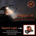 Nueva llegada wingsland s6 rc drone bolsillo selfie cámara fpv quadcopter drone wifi fpv con 4 k uhd