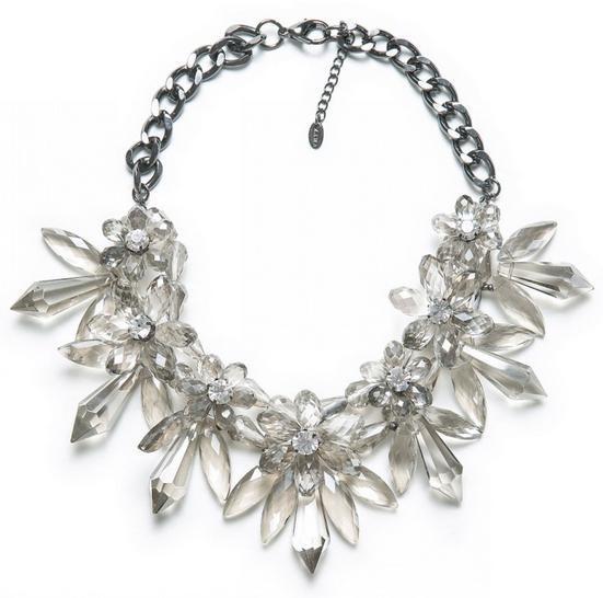 2014 marca moda de lujo Crystal Chunky collar mujeres gargantilla collar de la declaración Vintage collares joyería moda