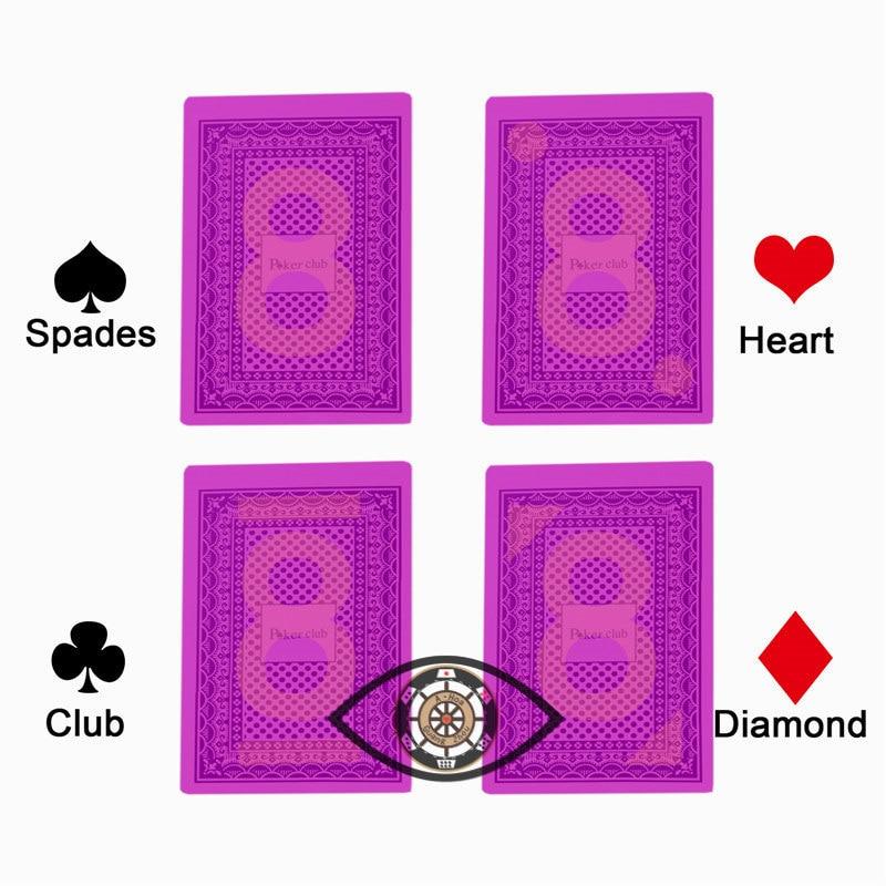 Madeira com a Água Durável Pvc Poker Cartões
