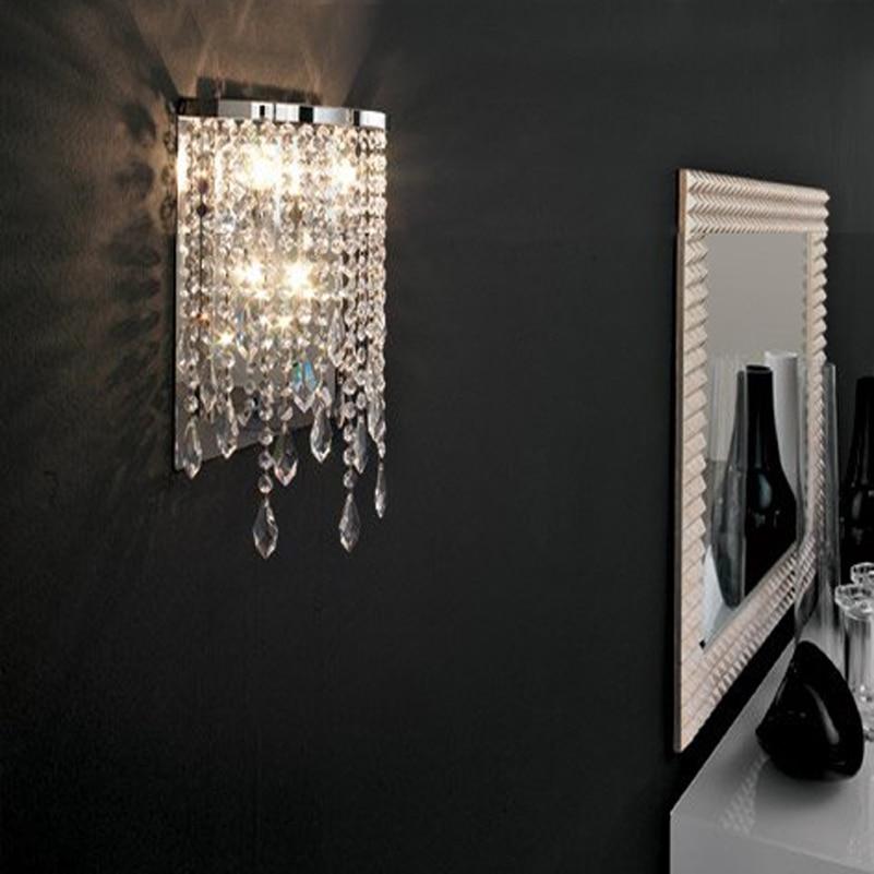 cristal moderna lmpara de pared espejo luz lmparas bao lmpara de pared llevada llev la lmpara