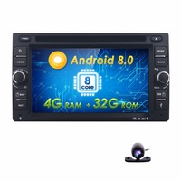 8/OctaCore 4GRAM+32GROM Android 8.0 car dvd player universal 2din GPS Navigation audio stereo radio with 4GWIFI+bluetooth+camera