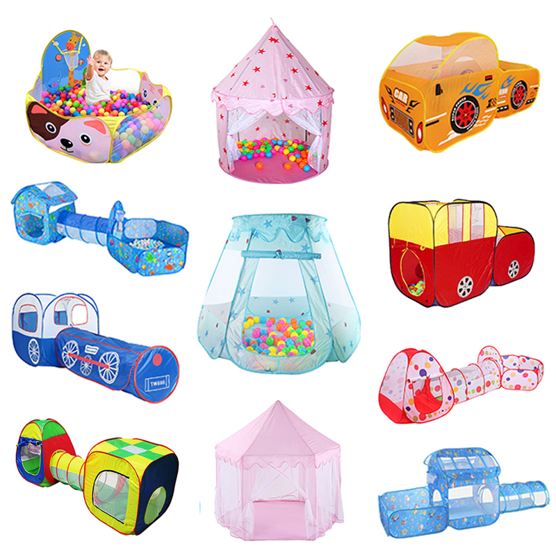 Portable Children's Tent Toys Kids Play Tents Indoor Outdoor Play House Baby Ocean Ball Pit Pool Princess Tents Christmas Decors