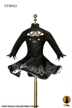 "1/6 NieR: الباردون 2B تفوت مثير الإناث الأسود اللباس الملابس ل 12 ""فتاة عمل الشكل تأثيري دمية DIY اكسسوارات"