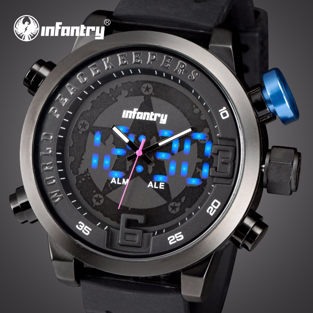 LED Analog Digital Military Army Watches For Men Silicone