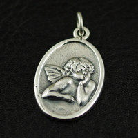 925 pure silver vintage small angel Angel silver pendant woman's silver pendant