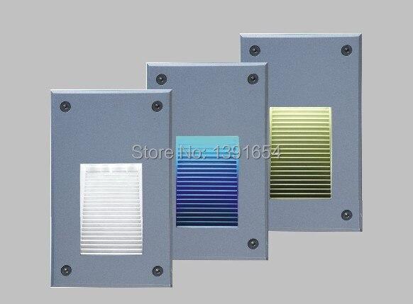ФОТО 12pcs/lot AC85-265V 3W IP65 Outdoor LED Wall Recessed Light ,LED stair Light,LED Step Light