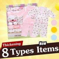 18PCS Set Autumn Winter Cotton Baby Clothes Set Infant Baby Clothing Newborn Baby Underwear Clothes Hat