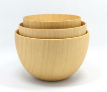 1PC 3 size Nature Original Jujube No Pant Wooden Bowls Containers Tableware Soup Bowls Noodle Rice Dishes Salad Bowls LC 016