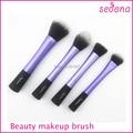 High Quality 4pcs blue Super soft Taklon hair cosmetic brush set for makeup beauty women