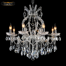 Luxury Classic Crystal Chandelier Light Fixture Maria Theresa Luste Clear Color For Living Room