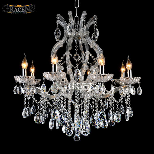 Luxury Classic Crystal Chandelier Light Fixture Maria Theresa Crystal Luste Clear Color For Living Room
