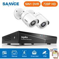 SANNCE 4CH 720 P CCTV система 1080N HDMI CCTV DVR 1500TVL 1.0MP наружная домашняя камера безопасности Система видеонаблюдения комплект
