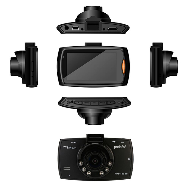 Podofo A2 140 Degree Dashcam with Night Vision G-Sensor