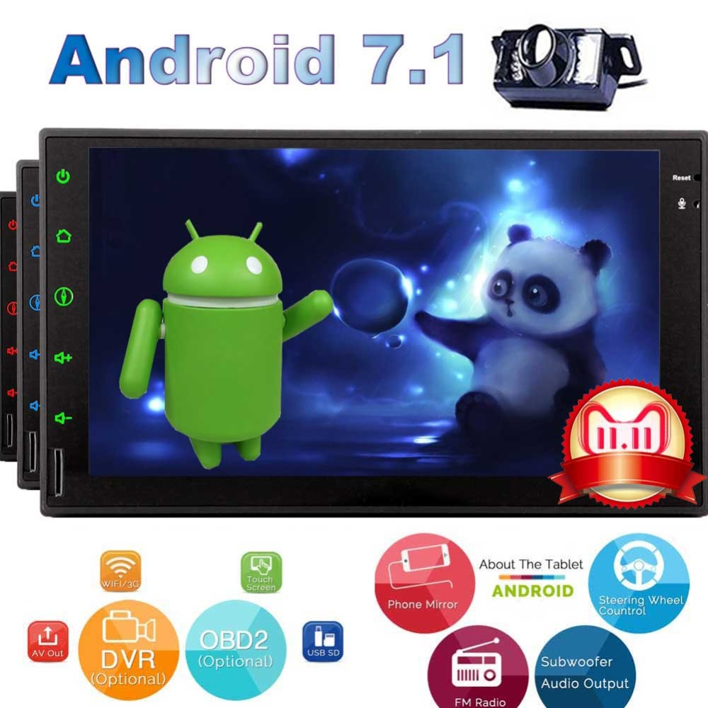 Radio 7 Inch 2DIN Head Unit Double Din Autoradio Bluetooth 1024x600 Touch Screen USB SD Video