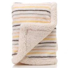 все цены на High Quality Baby Blankets Newborn Thicken Cotton Fleece Blanket Manta Bebe Infant Swaddle Wrap Warm Soft Baby Bedding Blankets онлайн