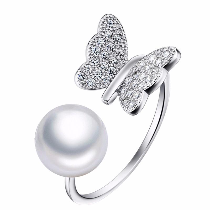 Silver pearl ring GNJ0585 (3)
