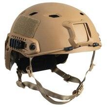 Capacete tático airsoft paintball gear head de proteção esportes ao ar livre com câmera de visão noturna de montagem encaixa farol