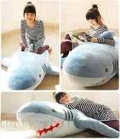 Hot Giant Shark Plush Stuffed Animal Soft Huge Toy Pillow Doll Sofa Xmas New Gift Cute Plush Toys Hot Hot Sale New Brand