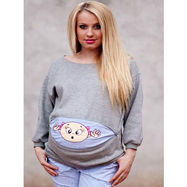 01cf30287c327 MAGGIE'S WALKER Maternity Clothes Long Sleeve T Shirts Pregnant Women Funny  Design Cute Baby Mommy Fashion Tops Tees