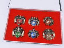Game of Thrones Badge Spilla Pin 6 Pezzi Song Of Marchio di Famiglia del ghiaccio E del Fuoco Sole Drago Distintivo Vestito Cosplay puntelli(China)